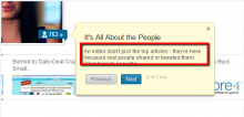 People determine which sources are featured in LinkedIn Today.