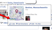 Facebook Bing Map