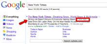 The New York Times now features clickable news headlines.